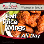 Wednesday Special – Half-Price Wings All Day!